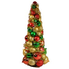 3' Multi-Colored Ornament Tree