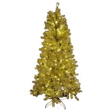 9' Gold Tinsel Tree
