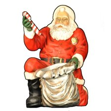 Santa Claus Handing out Candy Figurine