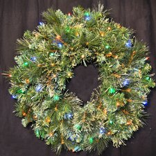 Pre-Lit LED Blended Pine Wreath