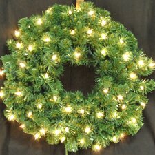 <strong>Queens of Christmas</strong> Pre-Lit Incandescent Sequoia Wreath