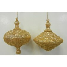 Oval Drop Ornament (Set of 2)
