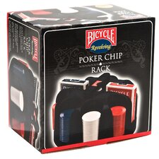 Poker Set with Cards and Chip Rack