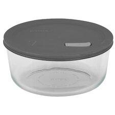7 Cup Pyrex No Leak Lid Round Container with Plastic Lid