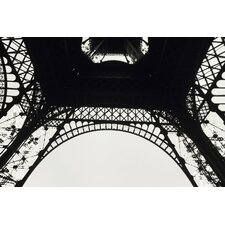 Underneath the Eiffel Tower Photographic Print on Canvas