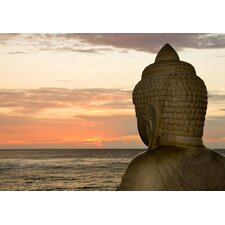 Buddha and Sunset Photographic Print on Canvas