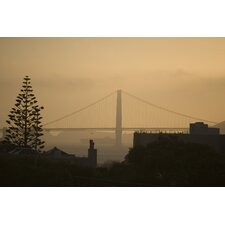 Distant View of the Golden Gate Bridge Photographic Print on Canvas