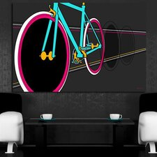 Fixie Graphic Art on Canvas