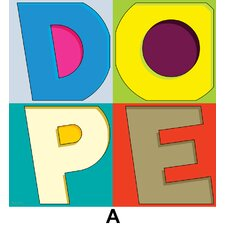 """Dope A"" Textual Art on Canvas"