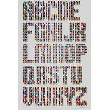 """""""Alphabet Dots"""" Textual Art on Canvas"""