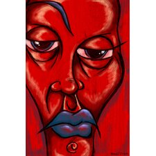 """Blue Lips "" Painting Prints on Canvas"