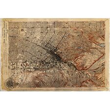 """""""Map Los Angeles 1926"""" Graphic Art on Canvas"""