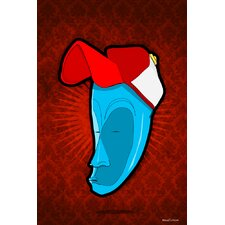 """""""Hat Mask"""" Graphic Art on Canvas"""