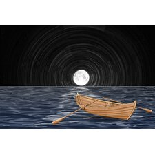 """Full Moon"" Graphic Art on Canvas"