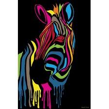 """Zebra Stripes"" Graphic Art on Canvas"
