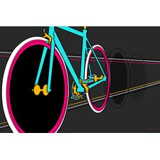 """Fixie"" Graphic Art on Canvas"