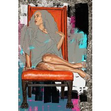 """On Her Throne"" Graphic Art on Canvas"