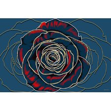 """Rose"" Graphic Art on Canvas"