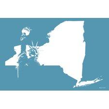"""New York"" Graphic Art on Canvas"