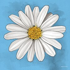 """White Daisy"" Graphic Art on Canvas"