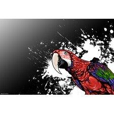 """Tropical Bird"" Graphic Art on Canvas"