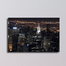 New York View from the Empire State Building Photographic Print on Canvas