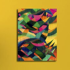 Abstract Textured Shapes Graphic Art on Canvas