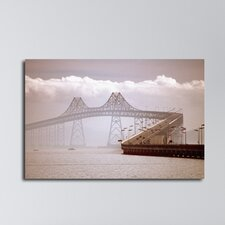 Clouds Over Richmond-San Rafael Bridge Photographic Print on Canvas