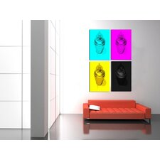 """CMYK"" 4 Piece Photographic Prints on Canvas Set"
