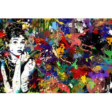 Audrey Hepburn Graphic Art on Canvas