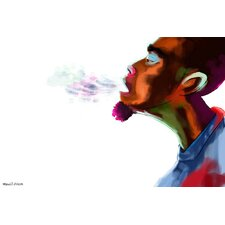 Guy Breathe Painting Print on Canvas