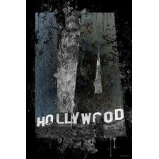 """Hollywood"" Graphic Art on Canvas"