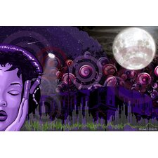 Midnight Vibes Graphic Art on Canvas