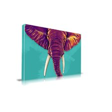 Elephant in The Room Painting Print on Canvas