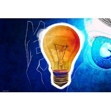 Bulb Water Graphic Art on Canvas