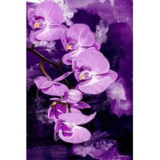 Orchid Graphic Art on Canvas