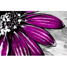 Purple Petals Painting Print on Canvas