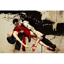 The Dance Graphic Art on Canvas