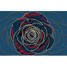 Rose Graphic Art on Canvas