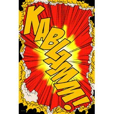 """Kablamm!"" Graphic Art on Canvas"