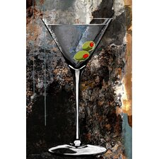Martini Glass Painting Print on Canvas