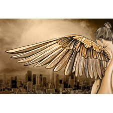 """City of Angels"" Graphic Art on Canvas"