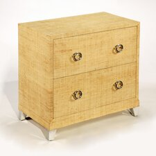 Inspirations Raffia 2 Drawer Chest