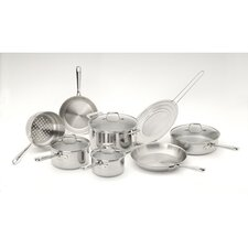 <strong>Emerilware by All Clad</strong> Pro-Clad 3-Ply Stainless Steel 12-Piece Cookware Set