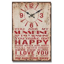 You are My Sunshine Message Wall Clock