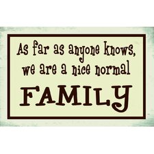<strong>Alterton Furniture</strong> Normal Family Message Wall Plaque