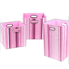 Rose Stripes 3 Piece Organization Bundle Set