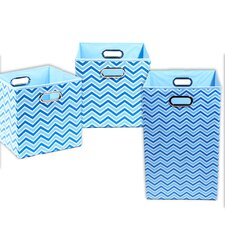 Sky Chevron 3 Piece Organization Bundle Set