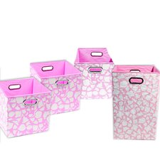 Rose Giraffe 4 Piece Organization Bundle Set