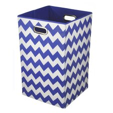 Chevron Folding Laundry Basket